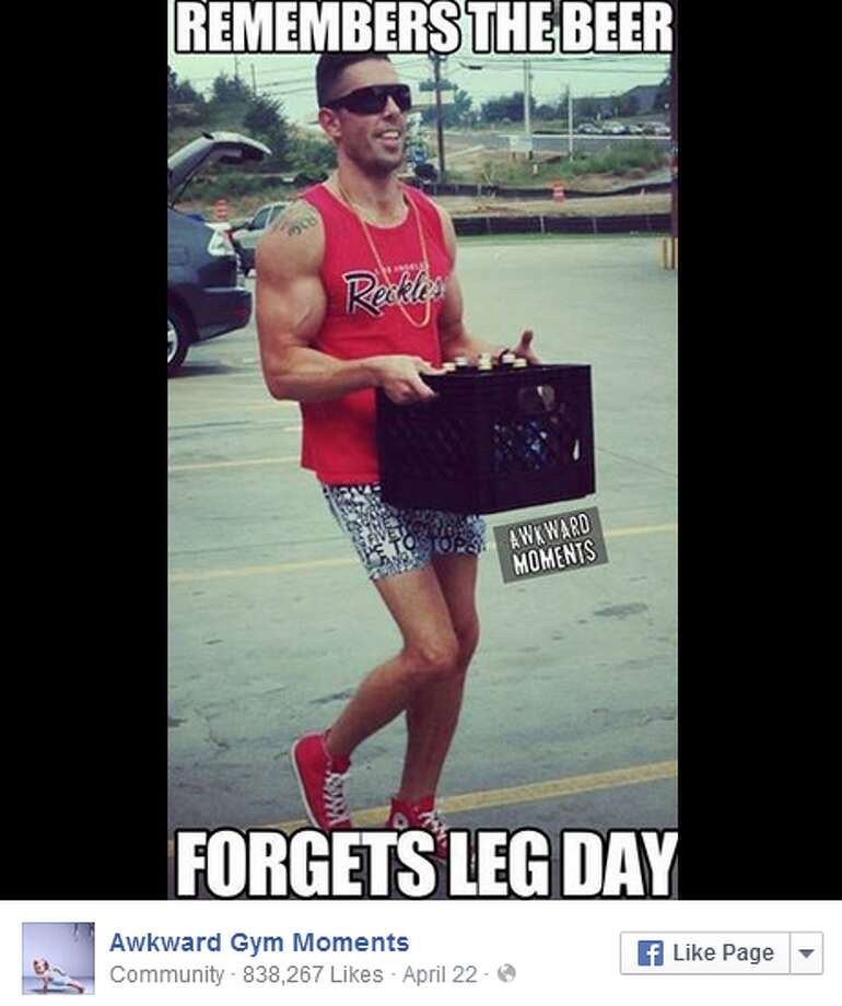 The guy who skips leg dayThis is what happens when the fear of leg day gets the better of you. Friends don't let friends skip leg day. No matter how brutal it is.