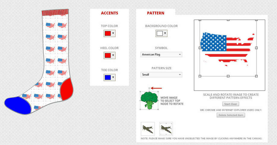 The George Bush Presidential Library Foundation is offering people a chance to design a pair of socks for the noted 90-year-old sock hound. The former prez will choose a few pairs to be put on display at his presidential library in College Station.