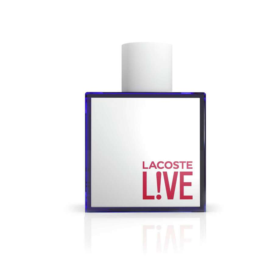 Lacoste Live is a new men's fragrance launching July 1. The scent blends green leaves and aquatic notes with lime, guaiac wood and licorice. Photo: Lacoste / Lacoste