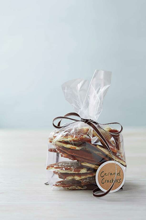 Good Housekeeping recipe for Salted-Caramel Cracker Candy. Photo: Con Poulos