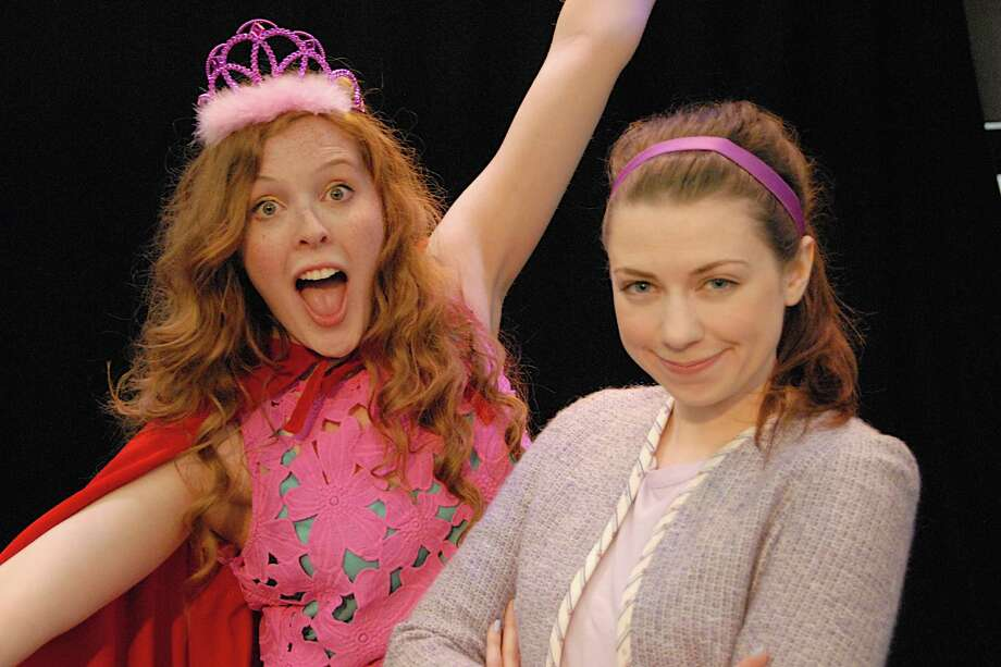 "Molly Garbe, right, teaches her new friend Princess Posy, played by Sarah Mae Banning, left, about the core values of good manners during the run of ""Merrilee Mannerly - A Magnificent New Musical!"" The production, which will be staged at the Summer Theater of New Canaan through Saturday, July 19, 2014, marks the world premiere of the musical. Photo: Contributed Photo / Stamford Advocate Contributed photo"
