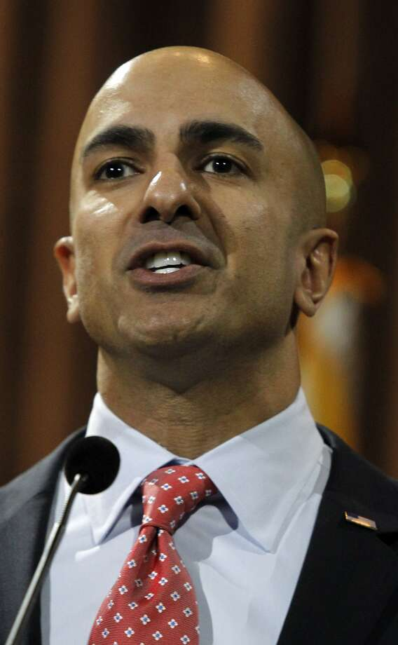 Neel Kashkari (left) trails Gov. Jerry Brown 52-32 in the latest Field Poll. Photo: Alex Gallardo, Associated Press