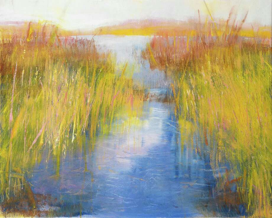 "Jan Dilenschneider, of Darien, will exhibit her artwork at Galerie Pierre-Alain Challier, in Paris' historic Le Marais district, beginning July 8 and running through Aug. 2. The exhibition, ""It is a Beautiful World: What Are We Doing to Protect It?"", includes ""Golden Reeds."" Photo: Contributed Photo, Contributed / Darien News"