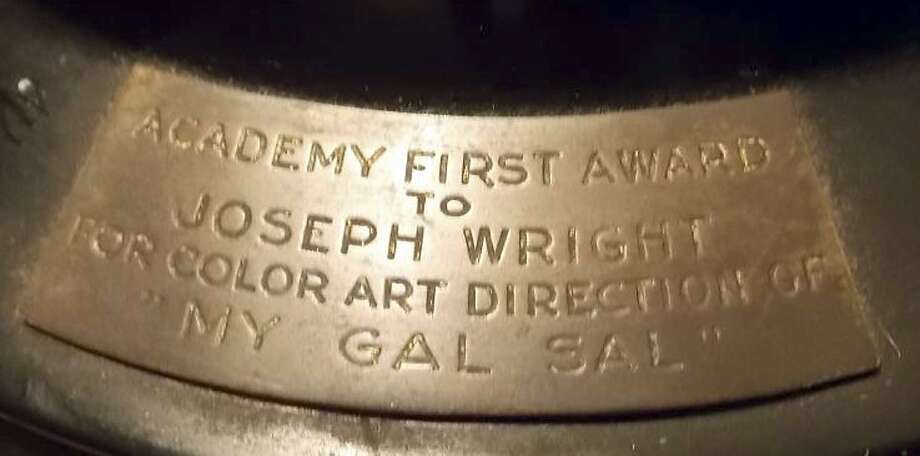 "Joseph C. Wright's Oscar statuette for color art direction on ""My Gal Sal"" predates the 1950 ban on the sale of the Academy Awards. Photo: Associated Press"