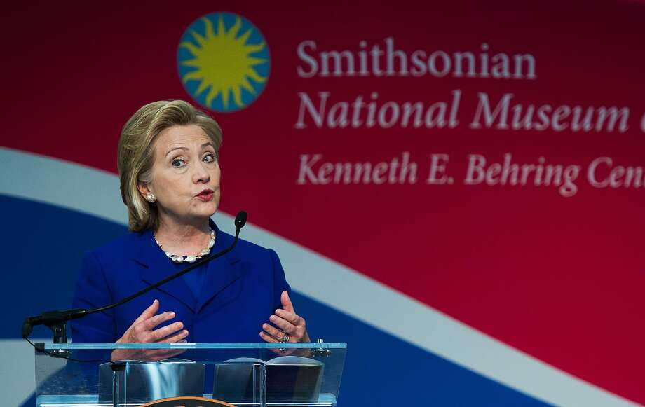 Former Secretary of State Hillary Rodham Clinton will be emphasizing youth unemployment issues through her family's Clinton Global Initiative. Photo: Paul J. Richards, AFP/Getty Images