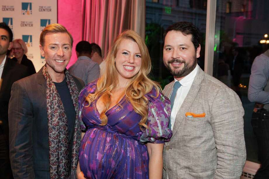 Mark Rhoades, Amy Karle and Brandon Hernandez at the 7th Annual Pride Kick-Off Party on June 20, 2014. Photo: Drew Altizer Photography/SFWIRE, Drew Altizer Photography / © 2014 Drew Altizer