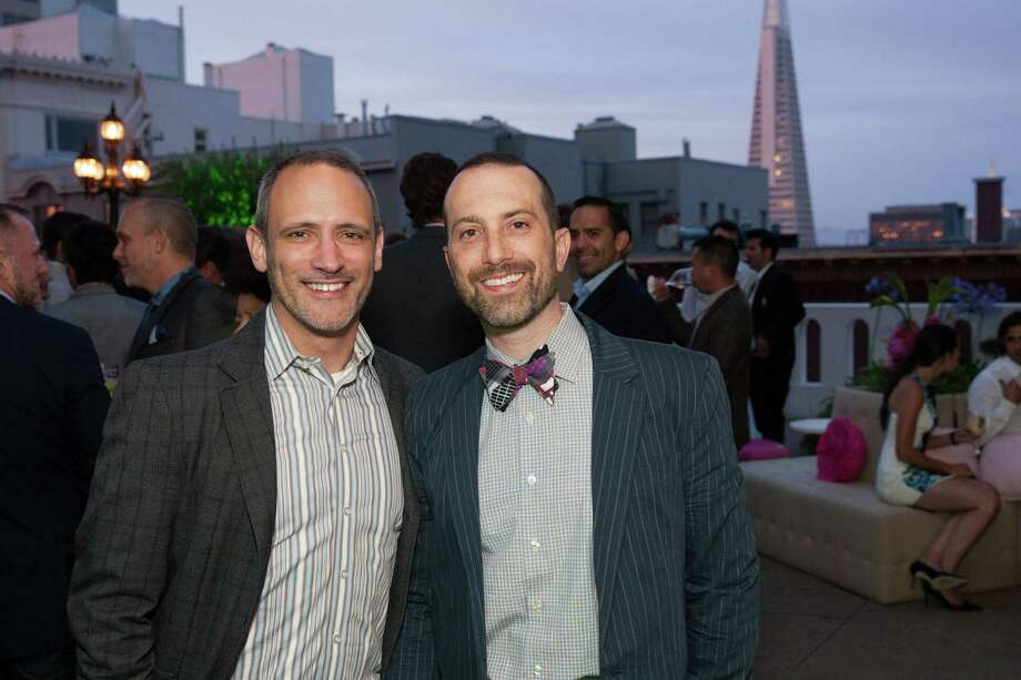 Fred Dillon and Scott Sarateno at the 7th Annual Pride Kick-Off Party on June 20, 2014. Photo: Drew Altizer Photography/SFWIRE, Drew Altizer Photography / © 2014 Drew Altizer