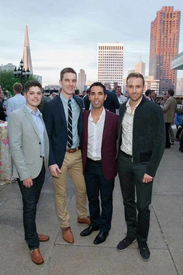 John Bentley, Mark Boreham, Alex Hachiya and Ted Maguire at the 7th Annual Pride Kick-Off Party on June 20, 2014. Photo: Drew Altizer Photography/SFWIRE, Drew Altizer Photography / © 2014 Drew Altizer