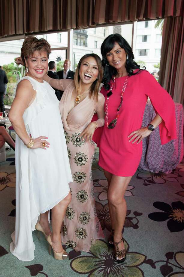 Rosalina Lytster, Jeannie Mai and Francein Hansen at the 7th Annual Pride Kick-Off Party on June 20, 2014. Photo: Drew Altizer Photography/SFWIRE, Drew Altizer Photography / © 2014 Drew Altizer