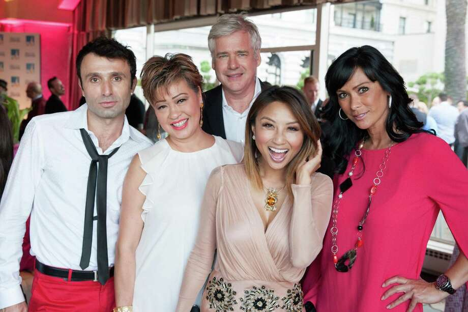 Luca Matureli, Rosalina Lytster, David Costello, Jeannie Mai and Francein Hansen at the 7th Annual Pride Kick-Off Party on June 20, 2014. Photo: Drew Altizer Photography/SFWIRE, Drew Altizer Photography / © 2014 Drew Altizer