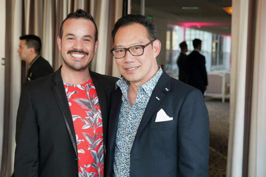 Roberto Ordenana and Paul Tan at the 7th Annual Pride Kick-Off Party on June 20, 2014. Photo: Drew Altizer Photography/SFWIRE, Drew Altizer Photography / © 2014 Drew Altizer