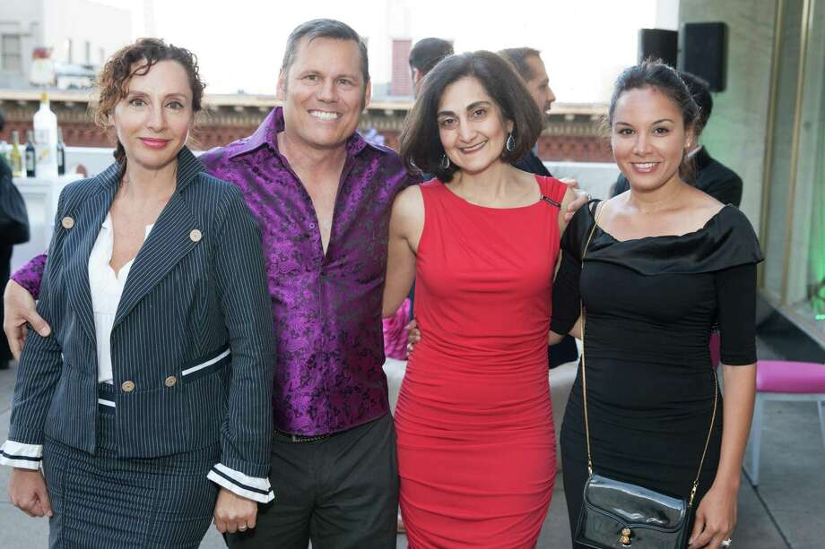 Clara Shayevich, Mark Calvano, Fati Farmanfarmaian and Bahya Murad at the 7th Annual Pride Kick-Off Party on June 20, 2014. Photo: Drew Altizer Photography/SFWIRE, Drew Altizer Photography / © 2014 Drew Altizer