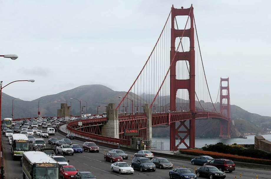 Workers from the the 13 unions comprising the Golden Gate Bridge Labor Coalition said Thursday they will stage a one-day strike of bus lines operated by the bridge district on Oct. 17. Photo: Justin Sullivan, Getty Images / 2013 Getty Images