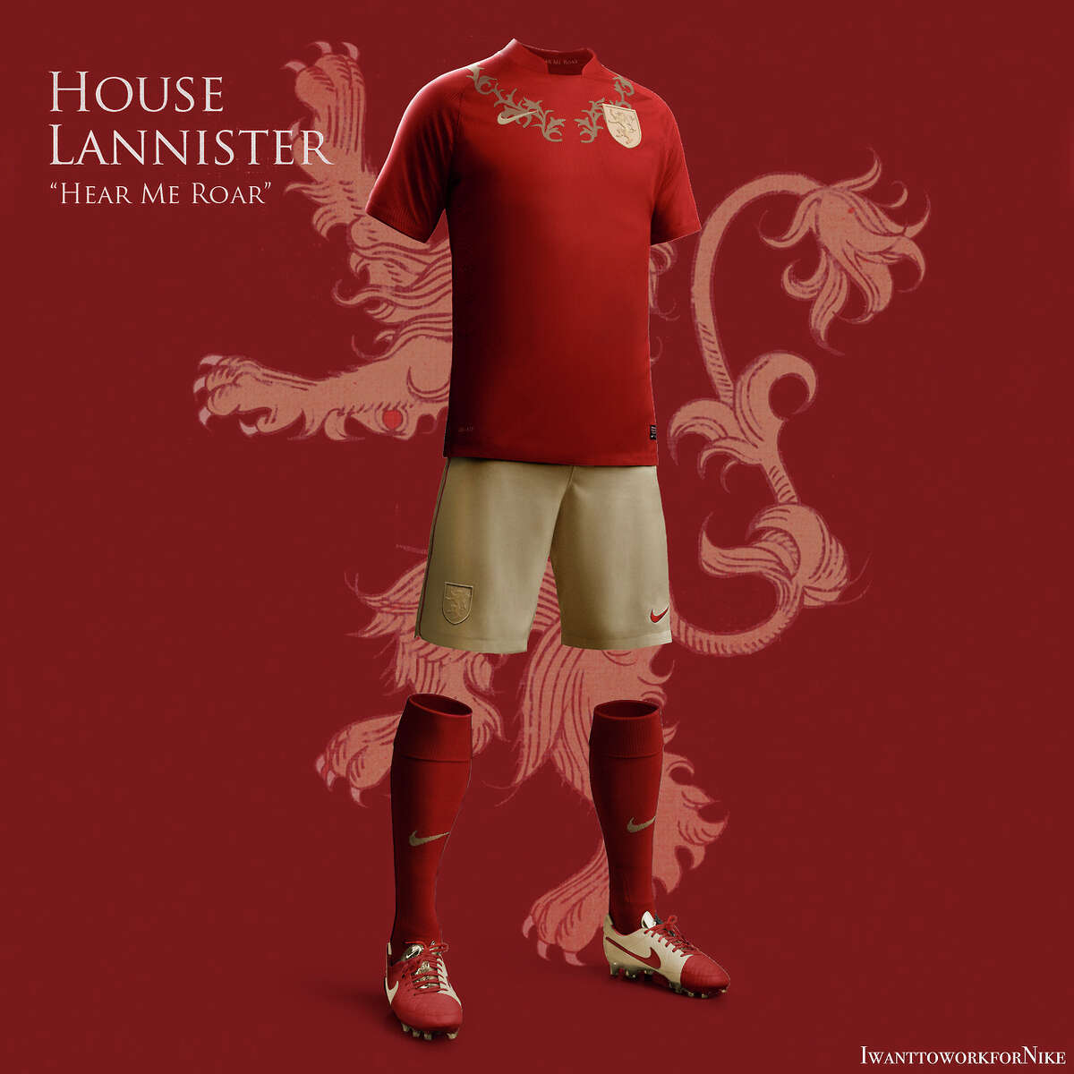 HOUSE LANNISTER Uniform design: Flashy and bold