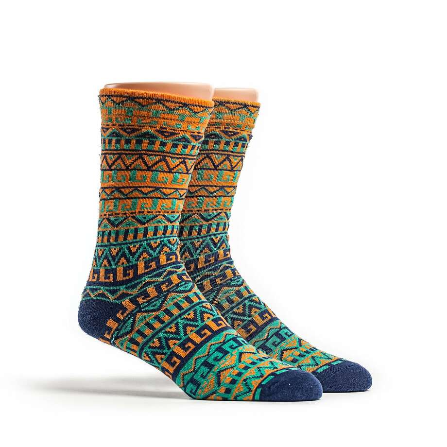 Rock the Socks' Itzel style ($9.25) is named after the Mayan Princess Itzel. Sales benefit Mexican orphans. www.rockthesocks.org.
