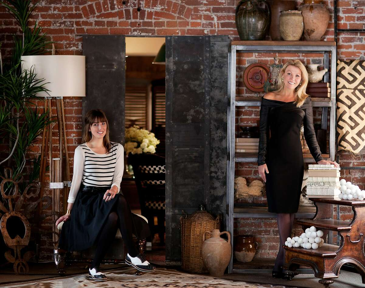 Designer Catherine Macfee (right) and daughter Justine launched a collection of items for online decor site Chairish. The two have design offices in S.F. and the Lake Tahoe area.