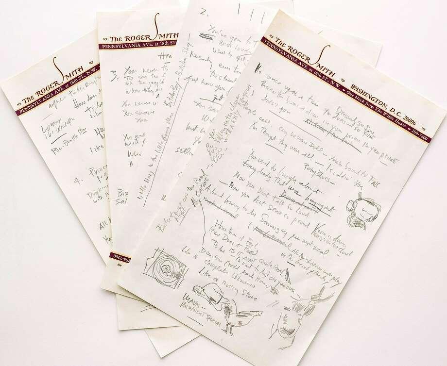 Bob Dylan's original manuscript sold for $2 million. Photo: Associated Press