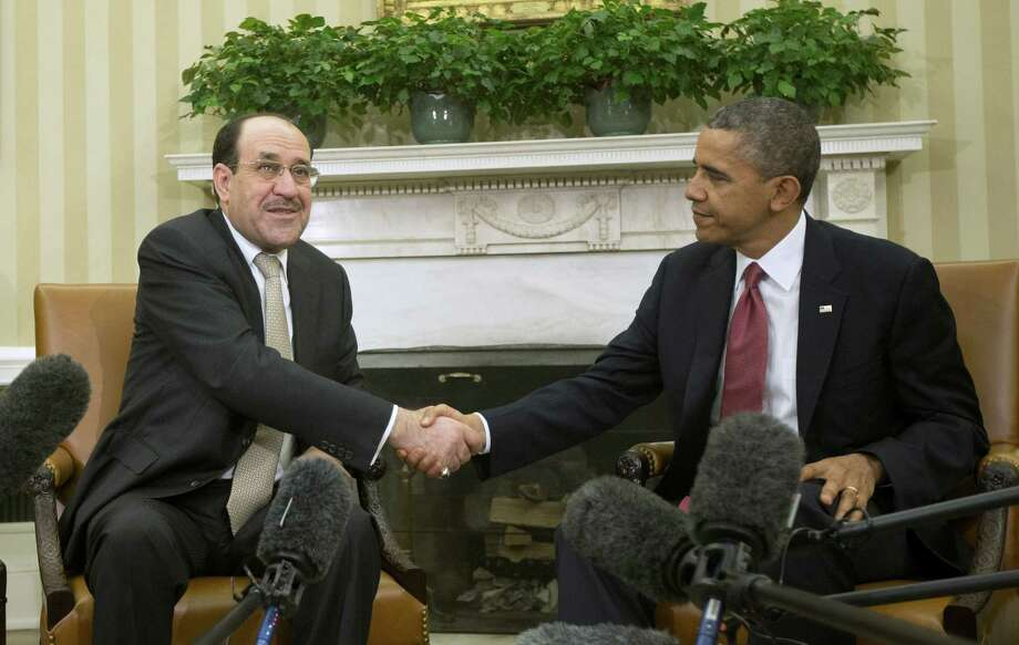 President Obama is trying to get Nouri al-Maliki (above) to step down or give Sunnis representation in the Iraqi government. Meanwhile, those who have not learned the lessons of the past are calling for more intervention. Photo: Pablo Martinez Monsivais / Associated Press / AP
