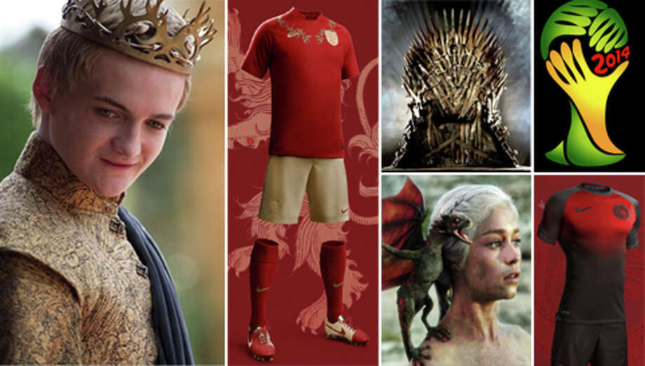 The teams of the World Cup are playing for international glory, but the houses of HBO's 'Game of Thrones' have much higher stakes. Fashion designer Nerea Palacios combined the global game with the renowned series in a bid to land a job with Nike and the results are awesome. Take a look at the World Cup jerseys she tailored for each major GoT player.
