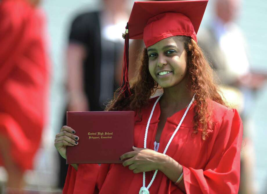 Scenes from the Central High School commencement ceremony Tuesday, June 24, 2014 at Kennedy Stadium in Bridgeport, Conn. Photo: Autumn Driscoll / Connecticut Post