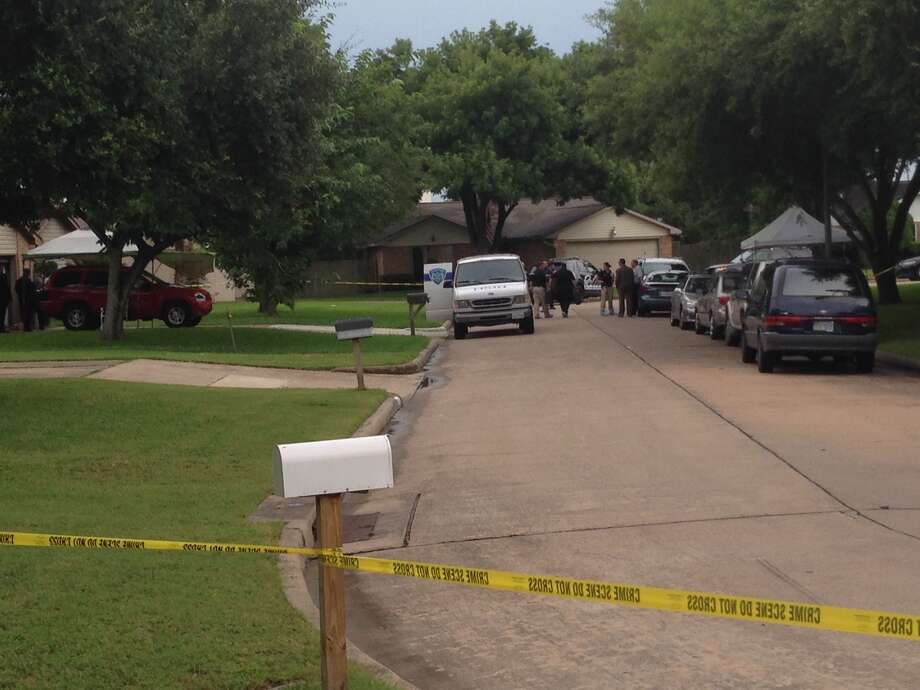 The bodies were found in a home on Tuesday in the 13300 block of Venice Circle. Photo: Mike Glenn, Chronicle