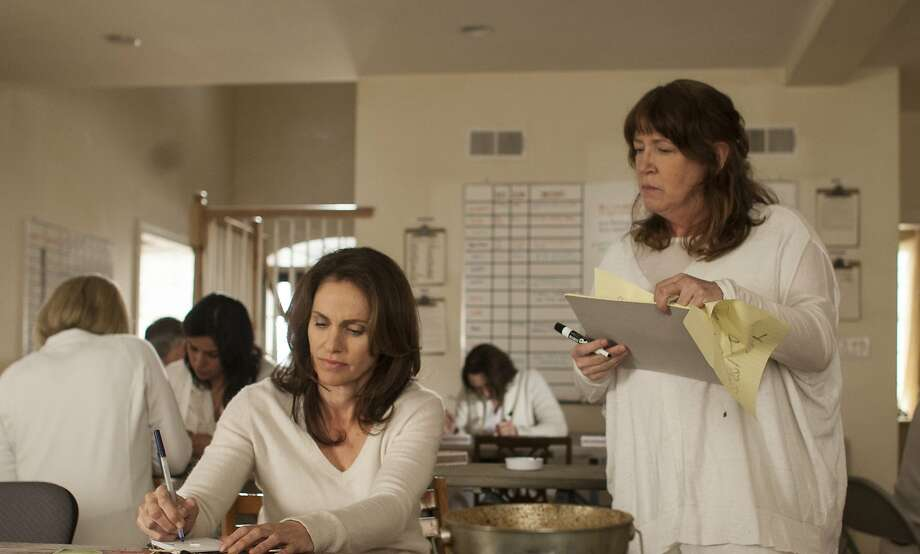 "In ""The Leftovers"" episode titled ""Penguin One, Us Zero,"" Amy Brenneman (left) is Laurie and Ann Dowd is Patti, part of a white-garbed, incomprehensible cult left after much of the populace has vanished. Photo: Paul Schiraldi, HBO"