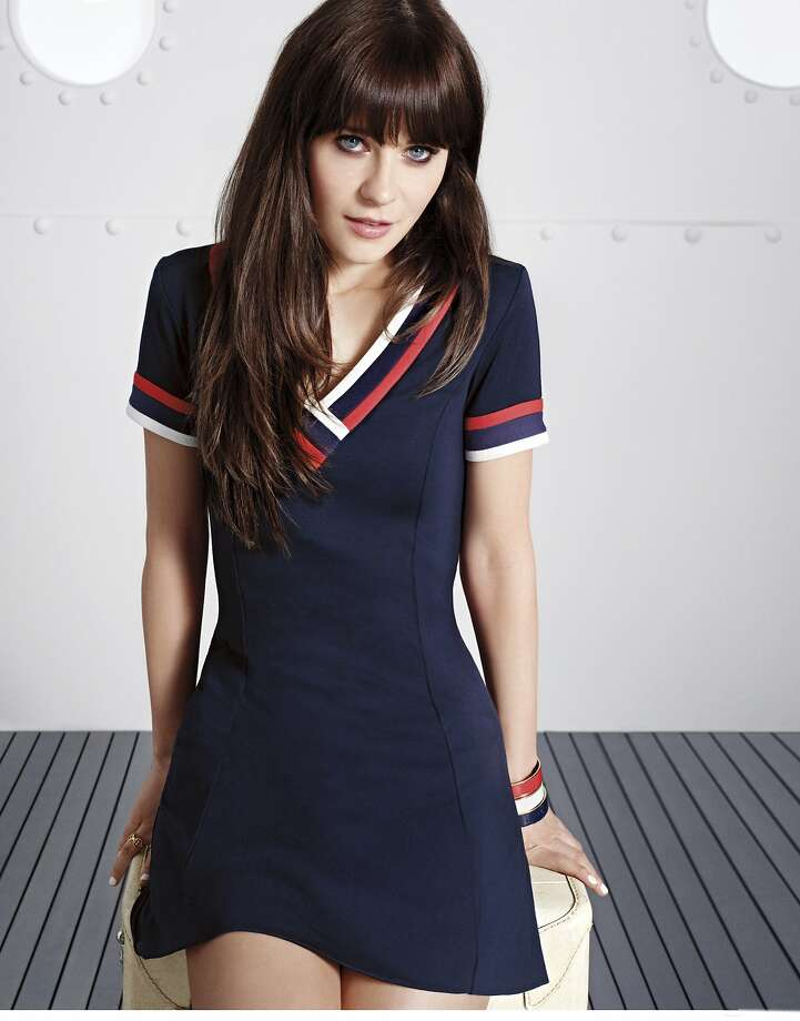 Part of Macy's American Icons campaign, this TOMMY HILFIGER TO TOMMY FROM ZOOEY V NECK DRESS is perfect for a preppy Fourth. $149.50. www.macys.com. Photo: Macy's