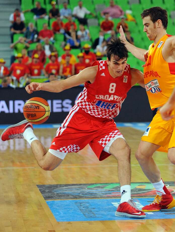 Forward  Dario Saric, 6-10, Cibona ZagrebSaric's decision to stay in Europe for at least two more seasons could let him slip out of the lottery, but he also could be a steal for a team willing to wait for him. Photo: ANDREJ ISAKOVIC, AFP/Getty Images