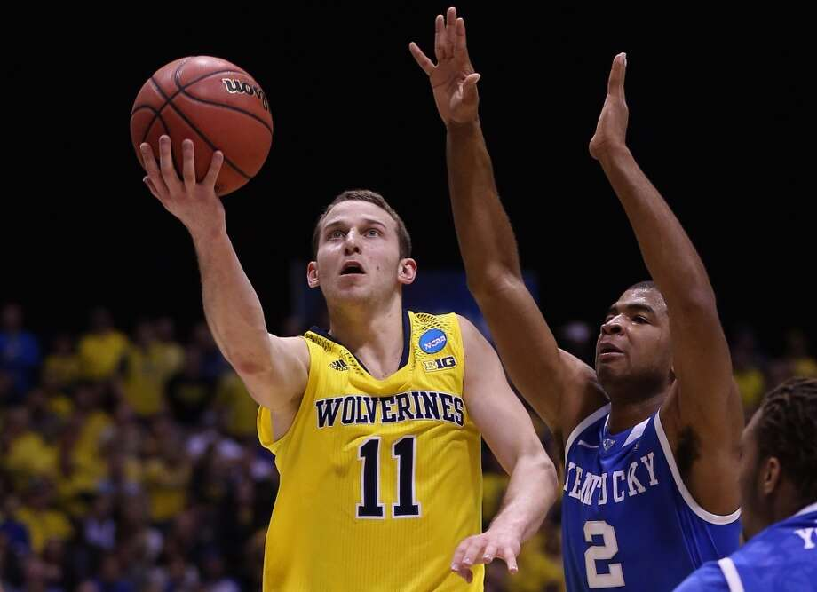 Guard  Nik Stauskas, 6-7, Michigan  Stauskas' elite-shooting strong and outstanding size might have moved him into the top 10. He seems more unlikely than ever to get out of the lottery. Photo: Jonathan Daniel, Getty Images