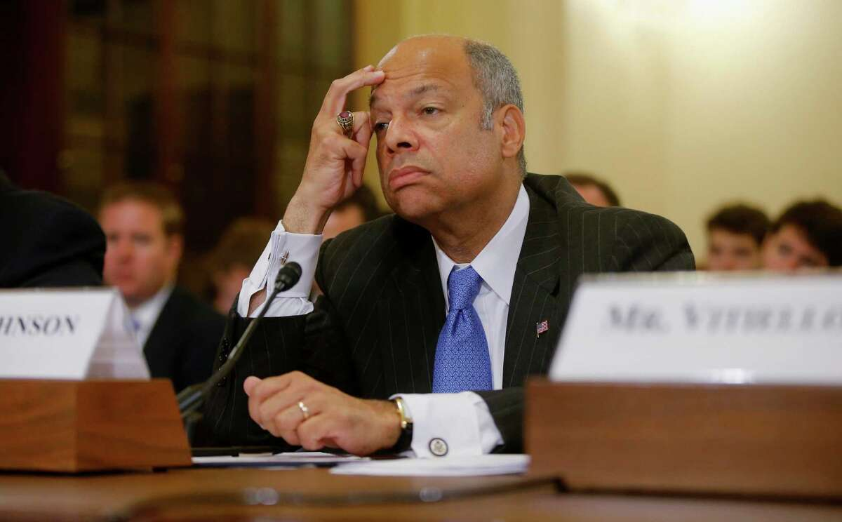 Homeland Security Secretary Jeh Johnson outlined a 13-point crisis plan; Republicans were skeptical.