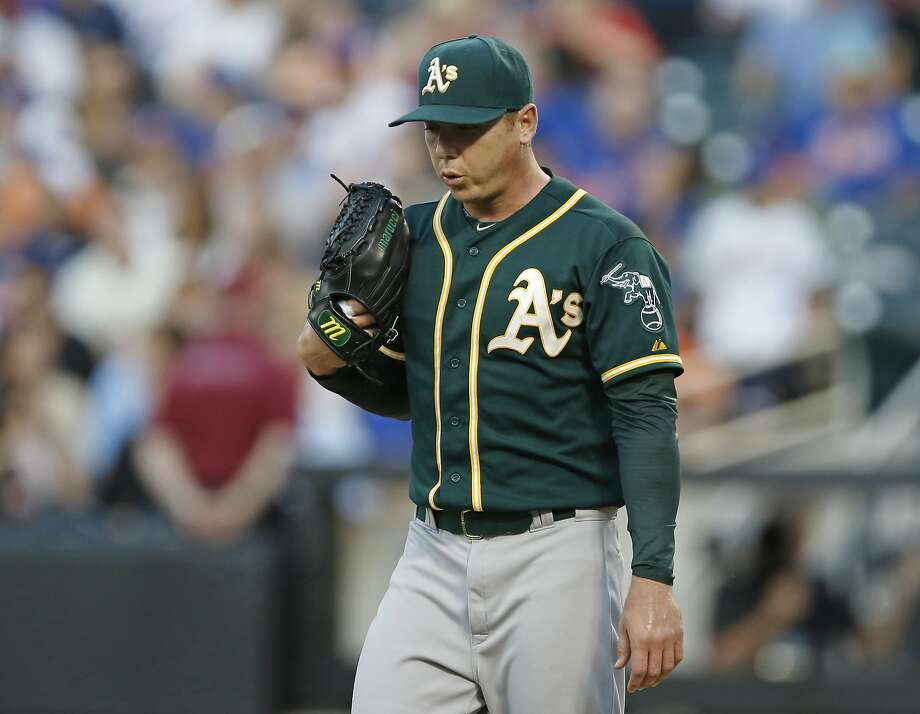 Scott Kazmir, Oakland Athletics, starting pitcher, American League. Photo: Kathy Willens, Associated Press
