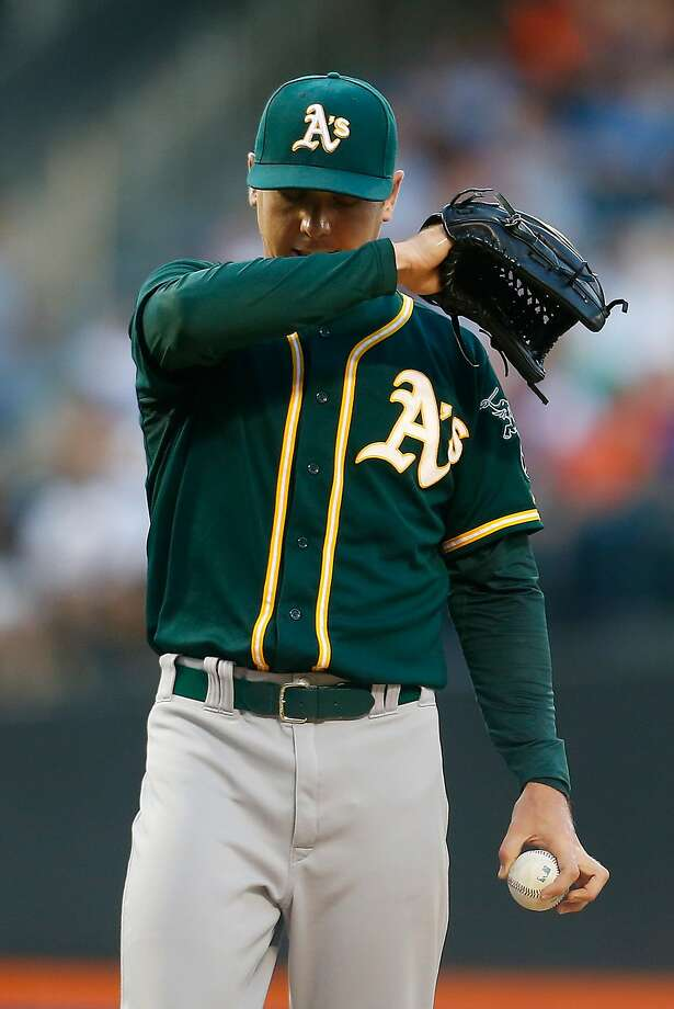 ERA leader Scott Kazmir yielded three homers and seven runs in three innings. Photo: Mike Stobe, Getty Images