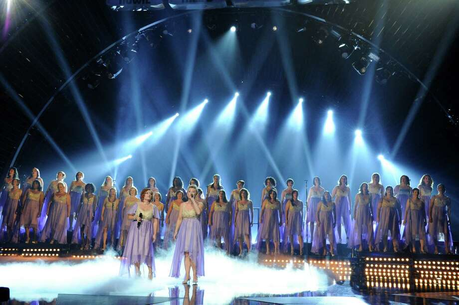 "The American Military Spouses Choir — which included three members from San Antonio: Stacey Shade-Ware, Dawn McClure and Allyson Harasimowicz — advanced to the semifinals on Season Eight of ""America's Got Talent"" before being eliminated. Photo: NBC, NBCU Photo Bank Via Getty Images / 2013 NBCUniversal Media, LLC."