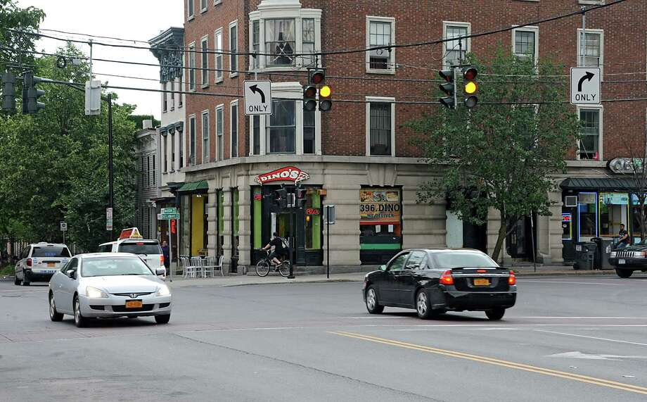 Traffic light at the intersection of Madison Ave. Lark St. and Delaware Ave. on Tuesday, June 24, 2014 in Albany, N.Y.  (Lori Van Buren / Times Union) Photo: Lori Van Buren / 00027496A