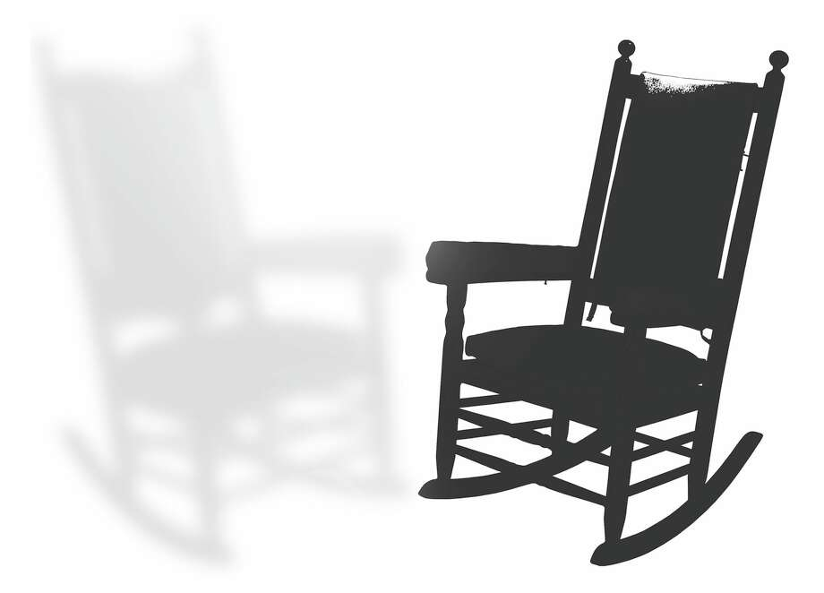 Two rocking chairs, one disappearing, faded back and made fuzzy BW illustration for biz Burns column -06252014-  Frances Thiel / Houston Chronicle / HTEITAGE AUCTION GALLERIES