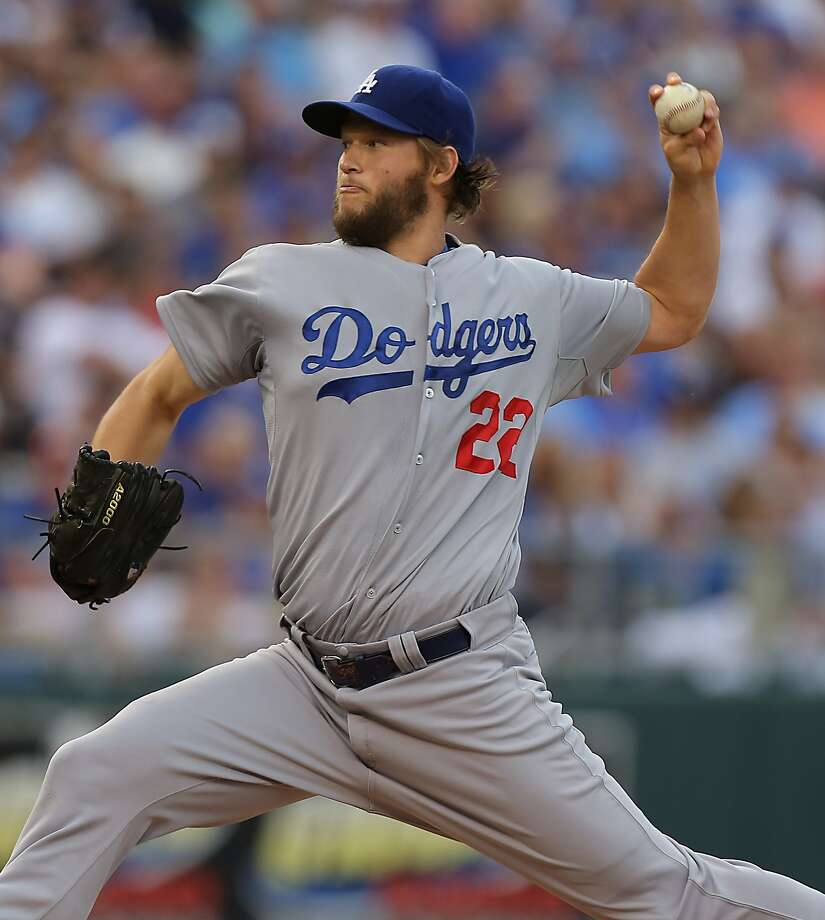 KANSAS CITY, MO - JUNE 24:  Clayton Kershaw #22 of the Los Angeles Dodgers throws against the Kansas City Royals in the first inning at Kauffman Stadium on June 24, 2014 in Kansas City, Missouri. (Photo by Ed Zurga/Getty Images) Photo: Ed Zurga, Getty Images