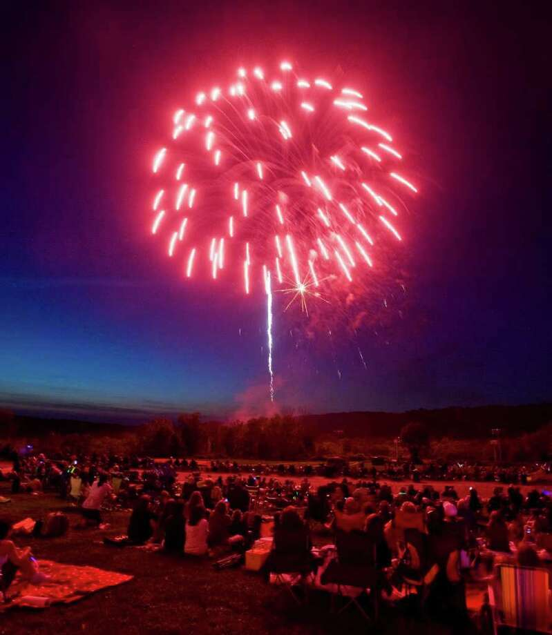 The Ridgefield Volunteer Fire Department Carnival's fireworks show will be on Friday, June 27 at East Ridge Middle School. Photo: Scott Mullin / The News-Times Freelance