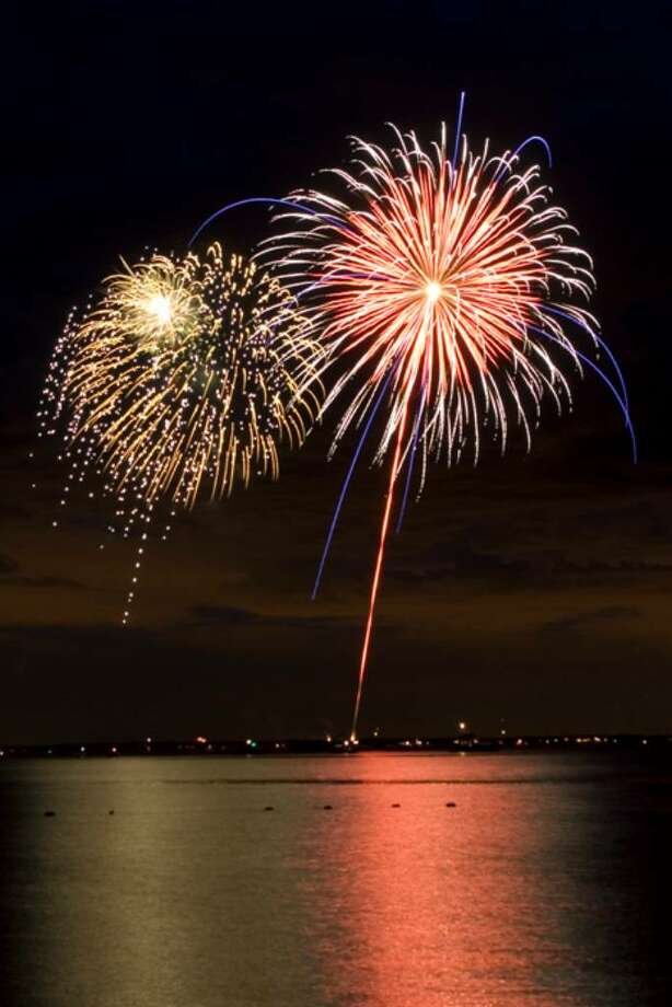 The Rowayton fireworks display us on Friday, July 4 at Bayley Beach. Photo: File Photo / Stamford Advocate File Photo