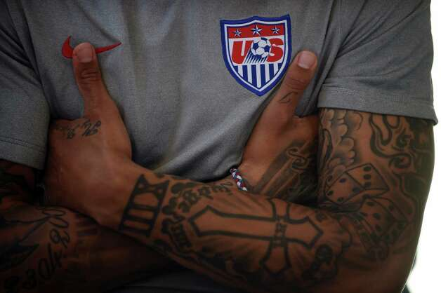 Tattooed stars of the 2014 world cup for Seattle sounders tattoo