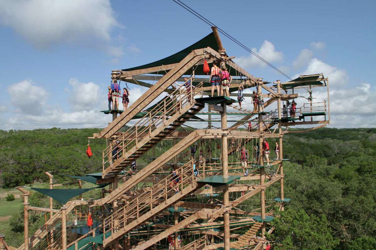 The Canopy Challenge is a 60-foot, four-tier adventure course with 47 obstacles.