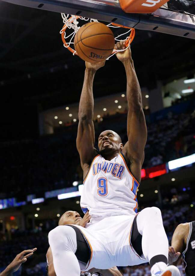 Oklahoma City Thunder forward Serge Ibaka Photo: Sue Ogrocki, Associated Press / AP