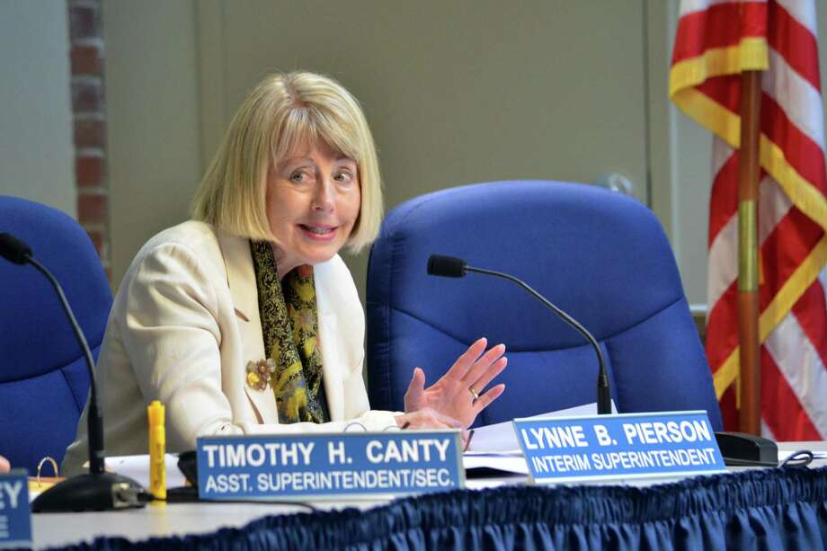 Interim Superintendent Lynne Pierson recommended the hiring of seven teachers at the Tuesday, June 24 Board of Education meeting. Photo: Megan Spicer / Darien News