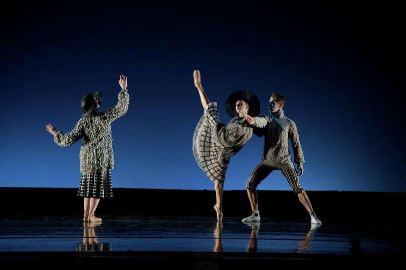 In an undated handout, from left: Rachel Sherak, Ashley Werhun and Travis Walker perform for the Tre