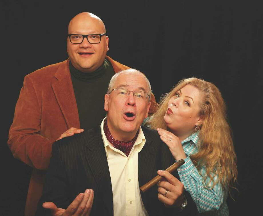 Provided by Walking the Dog Theater Peter Delocis, left, Michael Burns and Amy Tierney will be among the players improvising for Walking the Dog Theater.