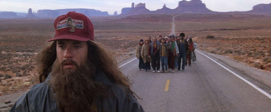 According to running geeks, Forrest's epic run across the country -- over 10,000 miles -- is certainly possible, though he probably would have foot and bone issues for years after. Photo: Paramount Pictures