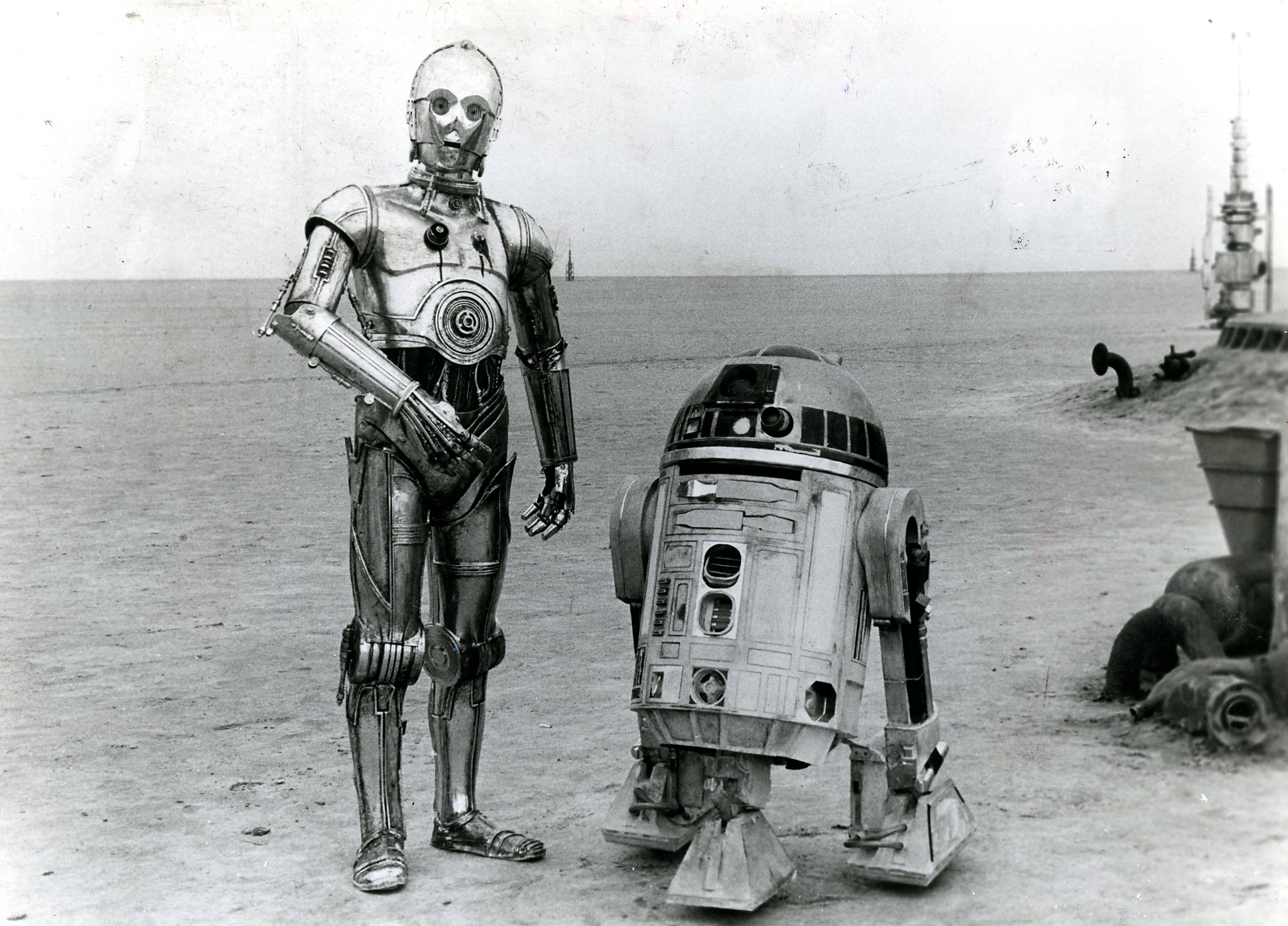 R2d2 And C3po Desert 'Star Wars'...