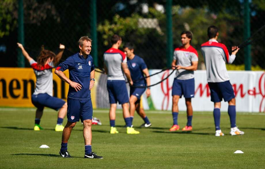 Head coach Jurgen Klinsmann of the United States looks on during training at Sao Paulo FC on June 24, 2014 in Sao Paulo, Brazil. Photo: Kevin C. Cox, Getty Images