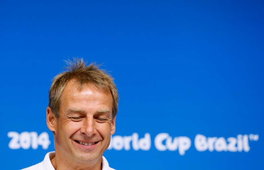 Head coach Jurgen Klinsmann of the United States speaks to the media prior to training at Arena Pernambuco on June 25, 2014 in Recife, Brazil. Photo: Kevin C. Cox, Getty Images