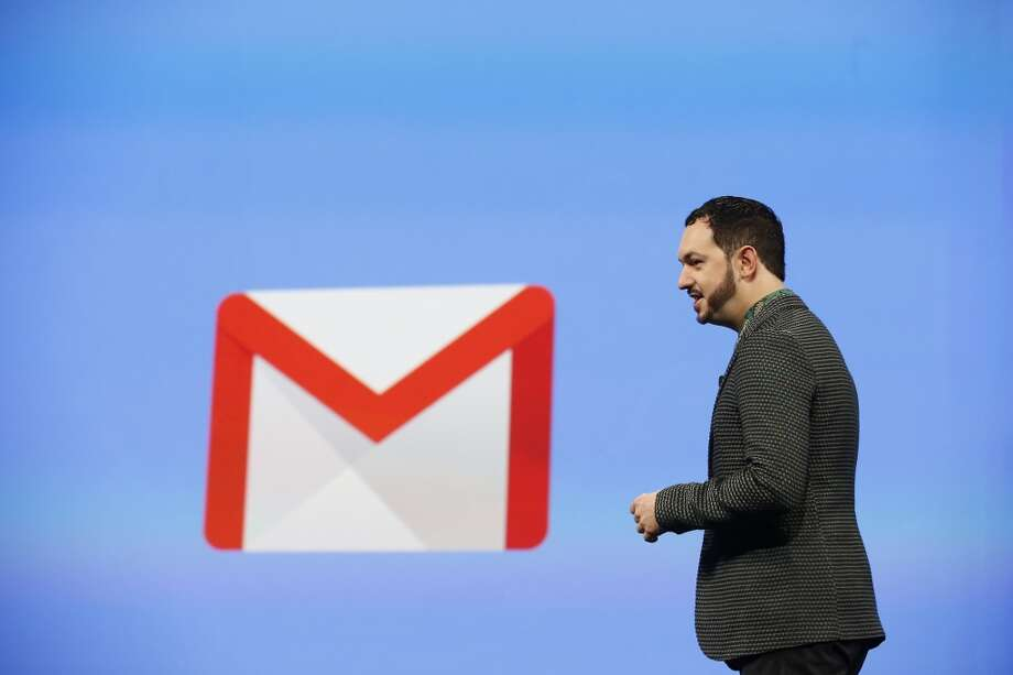 Matias Durante, vice president of design at Google, speaks on stage. Photo: Stephen Lam, Getty Images