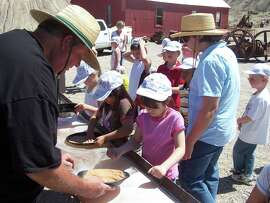 Children learn mining history at Tonopah Historic Mining Park in central Nevada. CREDIT: Tonopah Historic Mining Park.